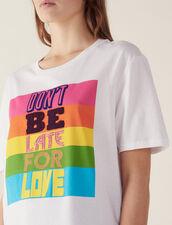 Camiseta Con Mensaje De Algodón : null color Blanco