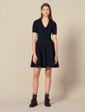 Vestido de punto de cuello camisero : FBlackFriday-FR-FSelection-Robes color Marino