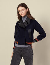 Cazadora corta de lana : Abrigos color Marino