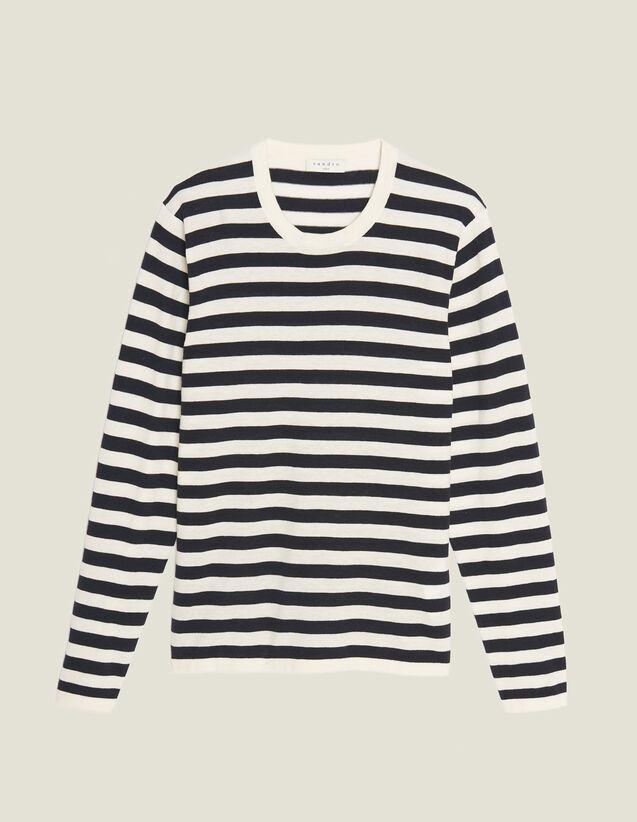 Jersey Marinero De Algodón Y Cachemira : Jerseys & Cárdigans color Crudo