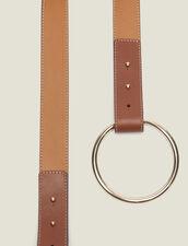 Cinturón Con Cierre De Anilla : null color Camel