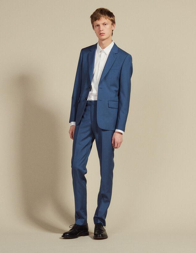 Pantalón De Traje De Lana : Trajes & Smokings color Gris azulado