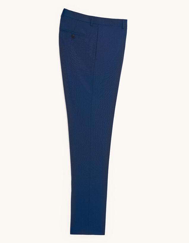 Pantalón de traje de lana y mohair : Trajes & Smokings color Azul