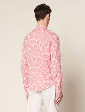 Camisa Fluida Con Estampado Floral : Baño de sol color Marino