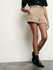 Short de tweed : Faldas & Shorts color Beige