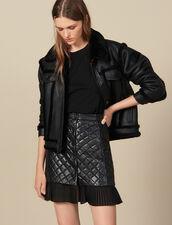 Falda Corta De Piel Acolchada : FBlackFriday-FR-FSelection-Jupes&Shorts color Negro