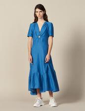 Vestido Largo Con Anilla Forrada : null color Bleu jean