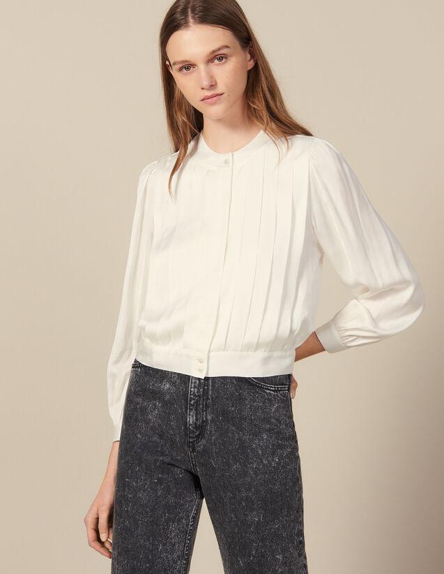 Blusa con pliegues planos : FBlackFriday-FR-FSelection-30 color Crudo