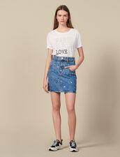 Falda Vaquera Corta Con Tachuelas : FBlackFriday-FR-FSelection-Jupes&Shorts color Bleu jean