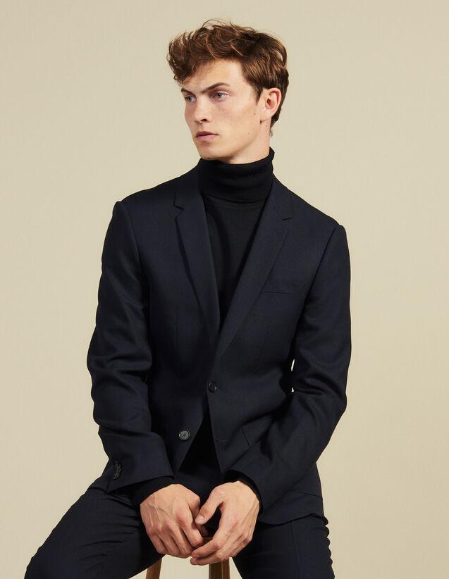 Chaqueta traje de lana, corte ajustado : Trajes & Smokings color Marino