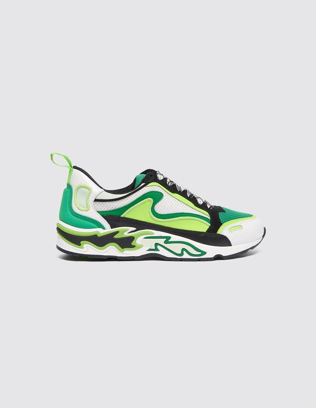 Deportivas Flame : Todos Zapatos color Vert fluo