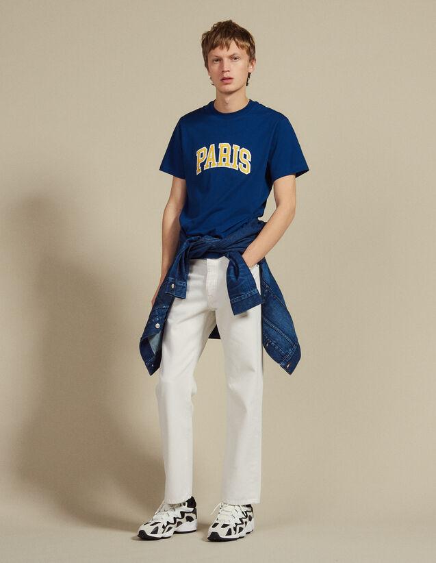 Camiseta Con Parche Con Mensajes : Sélection Last Chance color Azul