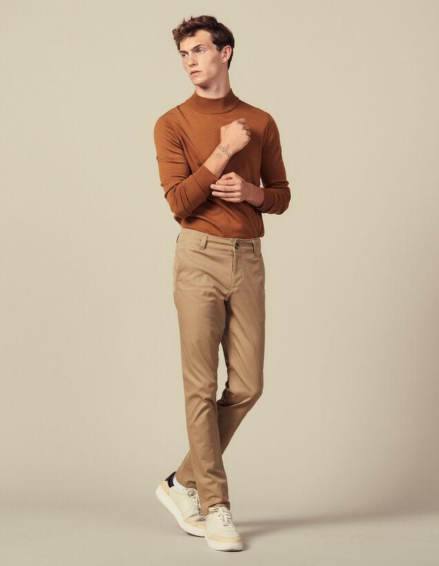 Chino De Algodón : Pantalones & Bermudas color Beige