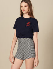 Camiseta De Algodón Con Mensaje : FBlackFriday-FR-FSelection-40 color Marino