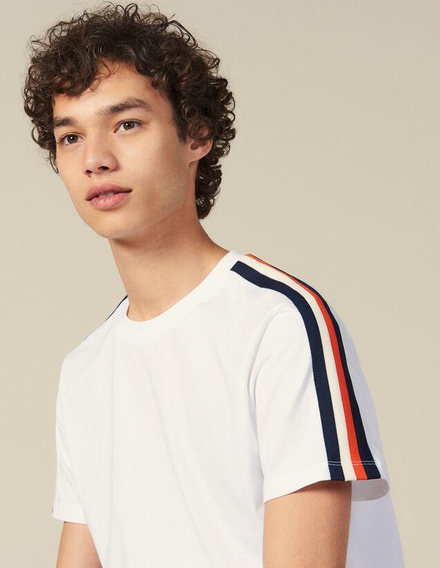 Camiseta Con Rayas En Las Mangas : Toda la colección de Invierno color Blanco