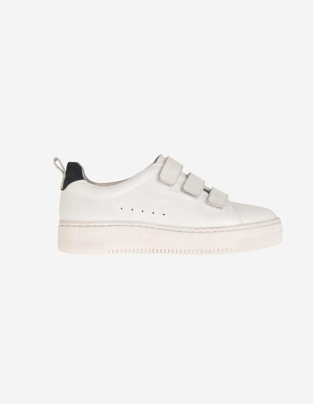 Deportivas De Piel Con Velcro : Todos Zapatos color Blanco