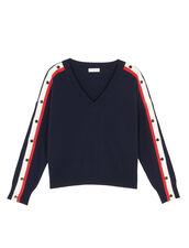 Jersey de lana y cachemira : Jerseys & Cárdigans color Marino