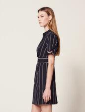Vestido Corto De Rayas : LastChance-FR-FSelection color Marino