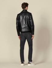Chaqueta de piel : Blousons & Manteaux color Negro