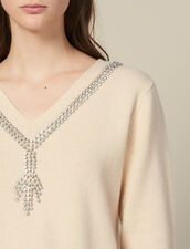 Jersey Con Cuello Adornado Con Joyas : FBlackFriday-FR-FSelection-30 color Beige
