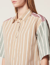 Camisa De Rayas Tricolor : Camisa estampada color Multicolor