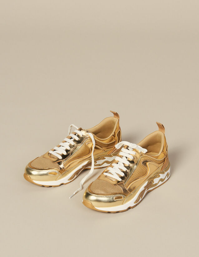 Deportivas Flame : Must-Have color Full Gold