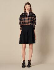 Falda De Punto Evasé : Faldas & Shorts color Negro