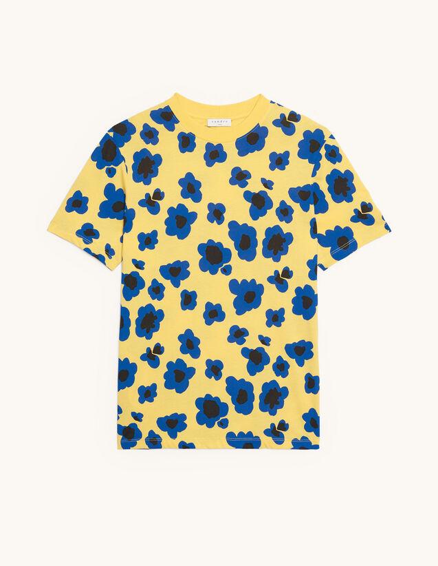 Camiseta estampada : Colección de Verano color Amarillo