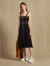 Vestido Midi Con Tirantes De Punto : null color Negro