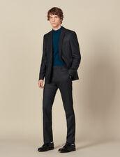 Pantalón de traje de lana : Trajes & Smokings color Antracita