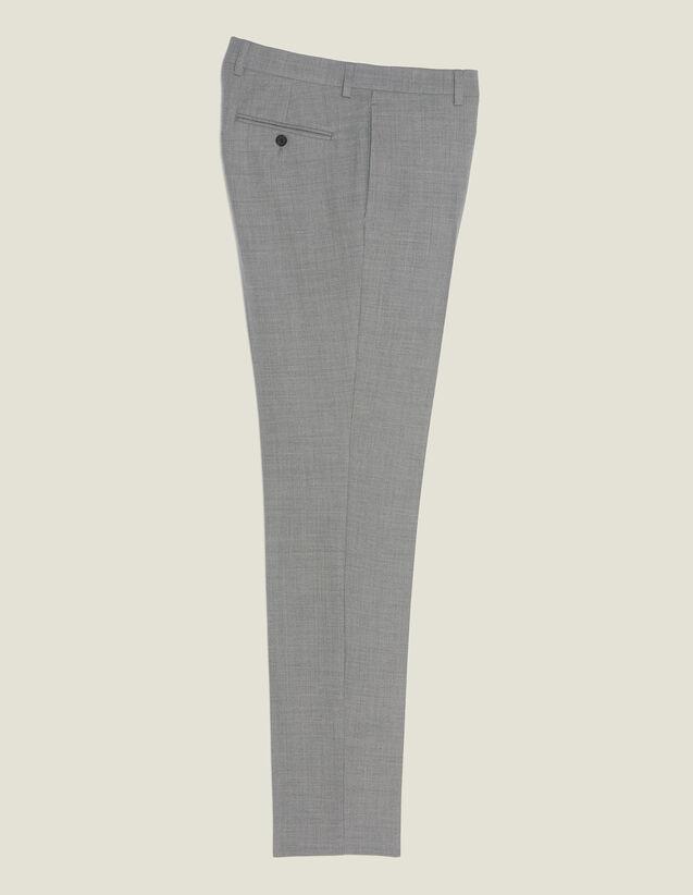 Pantalón De Traje De Lana : Trajes & Smokings color Gris Claro
