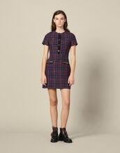 Vestido corto de tweed : Vestidos color Multicolor