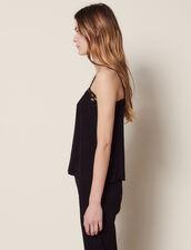 Top Lencero De Jacquard Tono Sobre Tono : Tops & Camisas color Negro