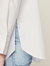 Camisa De Popelina Con Puños Anchos : Tops & Camisas color Blanco