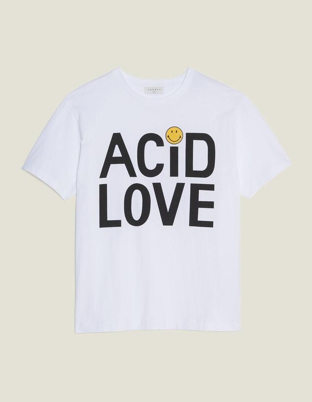 Camiseta Con Mensaje De Algodón : Camisetas color Blanco