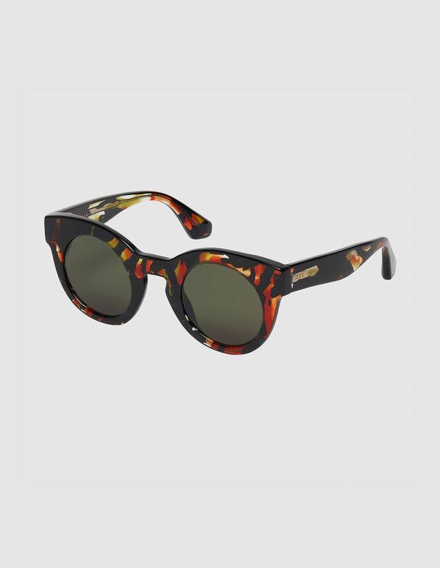 Gafas De Sol Redondas Oversize : Gafas de sol color Rojo