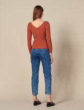 Jersey Con Botones Automáticos Con Firma : FBlackFriday-FR-FSelection-Pulls&Cardigans color Terracota