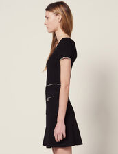 Falda De Punto Adornada Con Botones Joya : Faldas & Shorts color Negro