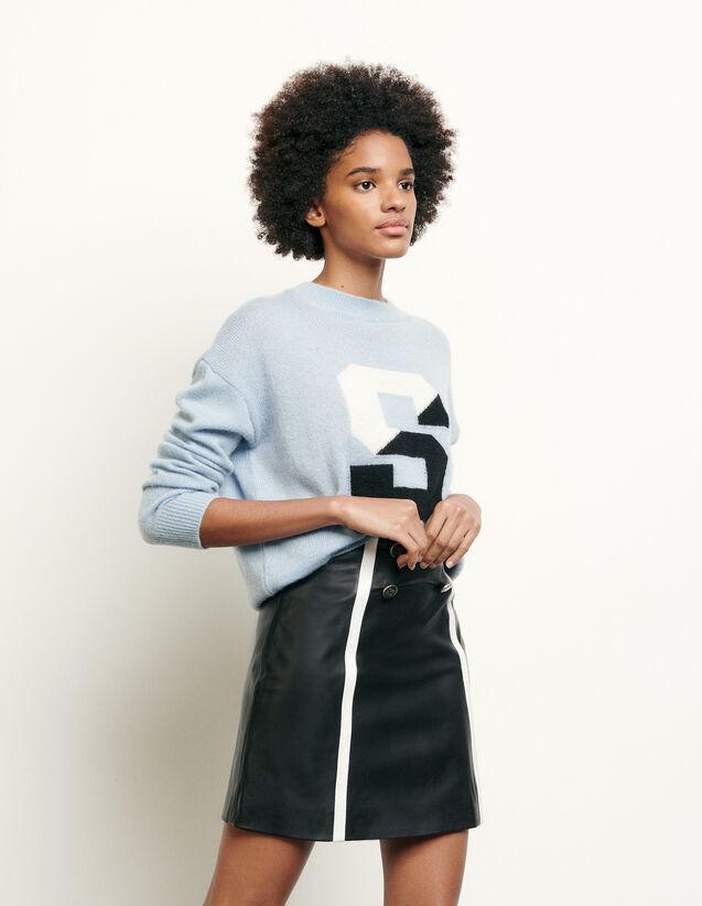 Falda corta de piel : Nueva Colección de Verano color Negro