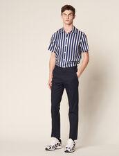 Pantalón Chino Ajustado : Pantalones & Bermudas color Marino