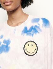 Jersey tye and dye con bordado smiley : Jerseys & Cárdigans color Multicolor