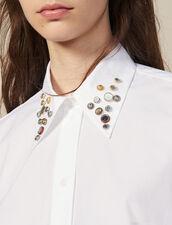 Camisa asimétrica adornada con tachuelas : FBlackFriday-FR-FSelection-30 color Blanco