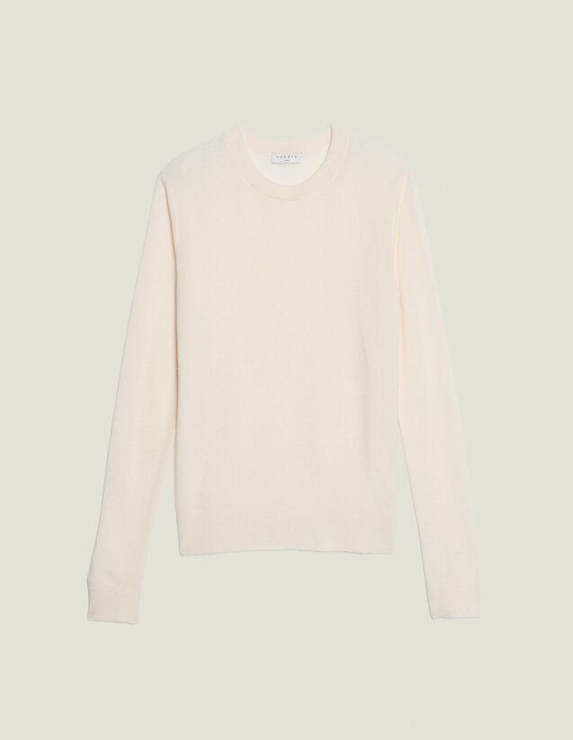 Jersey Fino De Punto De Fantasía : Jerseys & Cárdigans color Blanco Roto