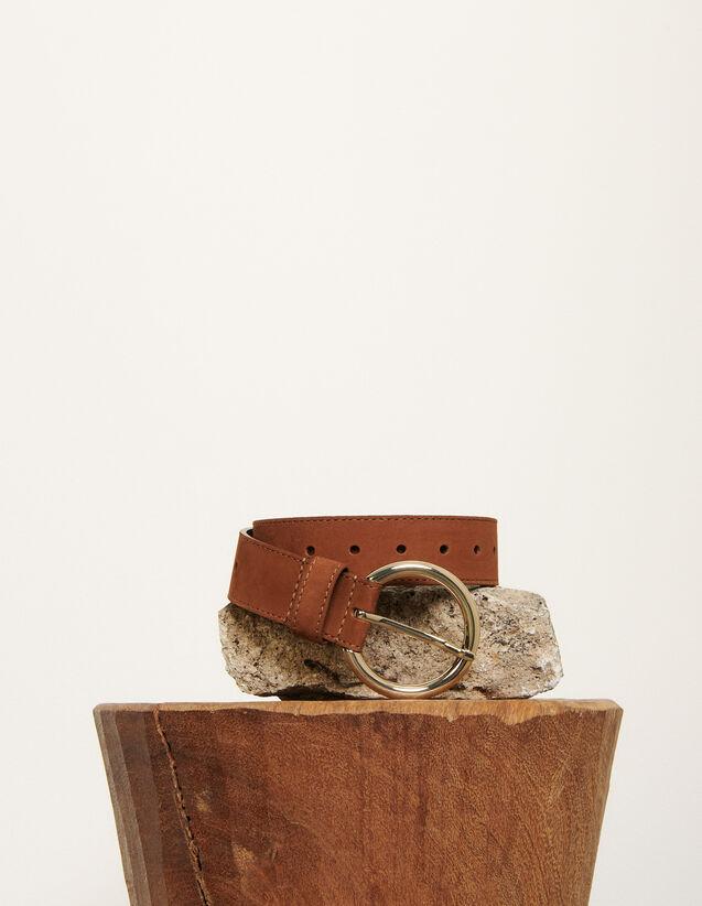 Cinturón de piel : Toda la colección de Invierno color Marino Oscuro
