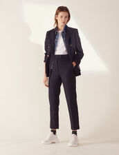Pantalón De Sastre De Corte Recto : Pantalones color Marino