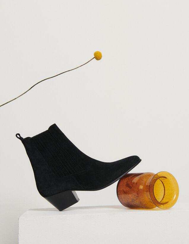 Botas de piel con elásticos : Todos Zapatos color Negro