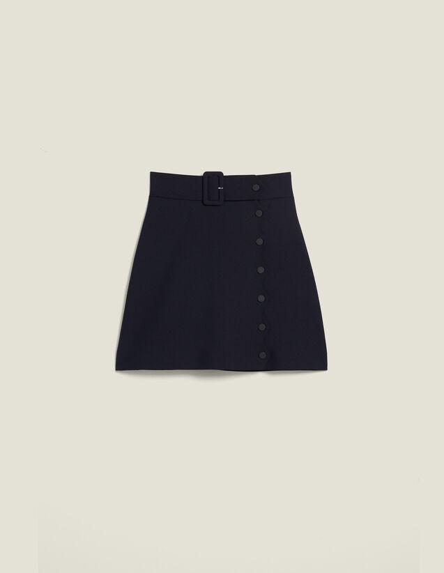 Falda Corta De Corte Trapecio : Faldas & Shorts color Marino