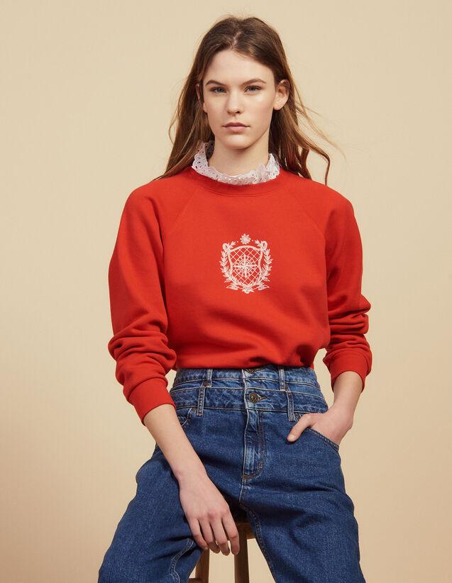 Sudadera De Cuello Victoriano Extraíble : Sudaderas color Rojo
