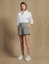 Short De Cuadros : null color Gris