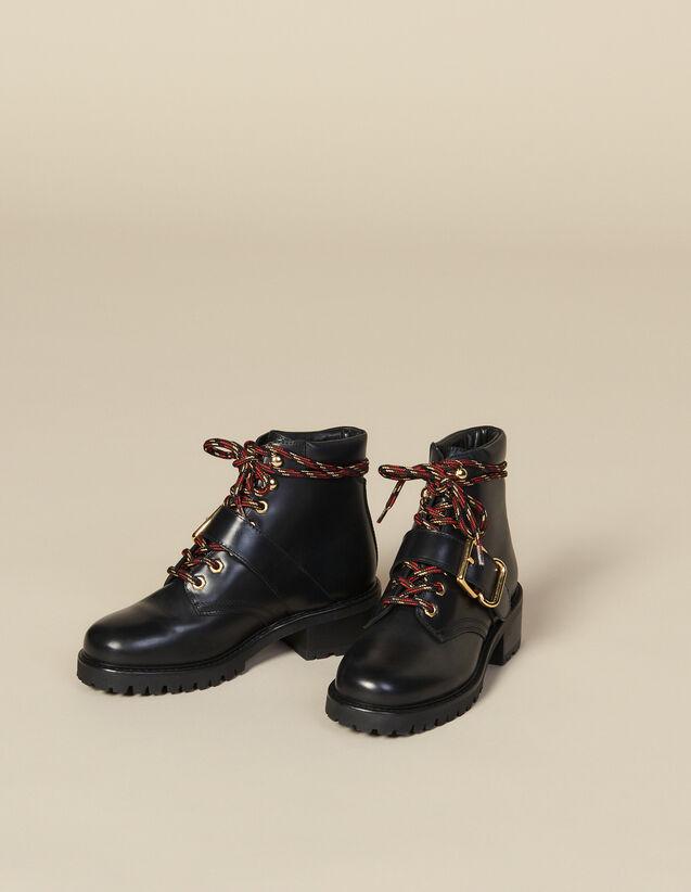 Rangers De Piel Lisa : Todos Zapatos color Negro